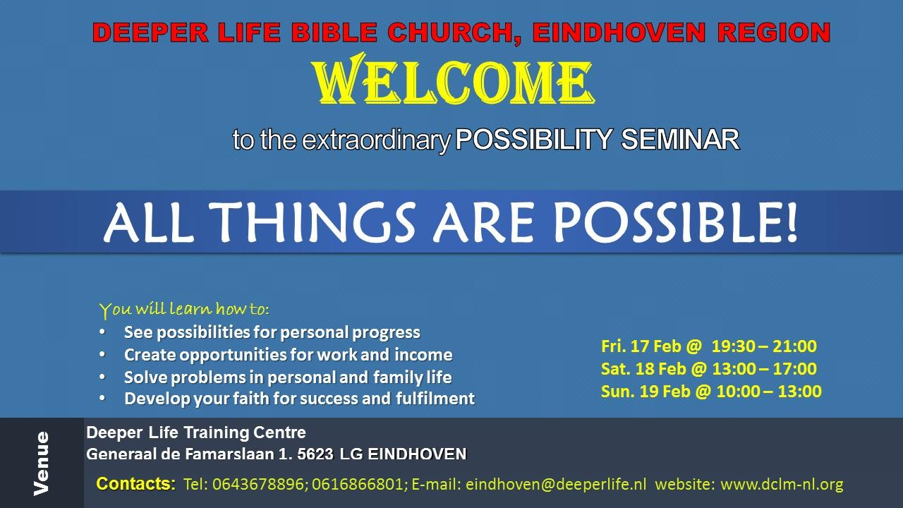 Possibility Seminar Flyer