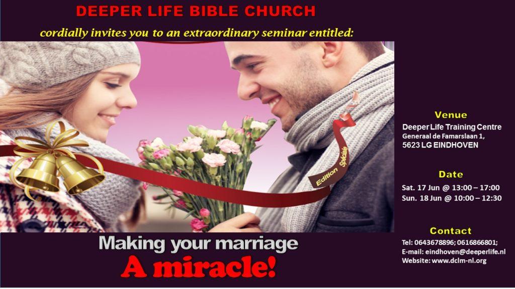 Marriage Seminars – Deeper Christian Life Ministry, Netherlands
