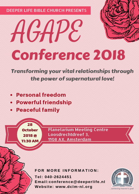 National Celebration Service (Agape Conference 2018), 28 October 2018